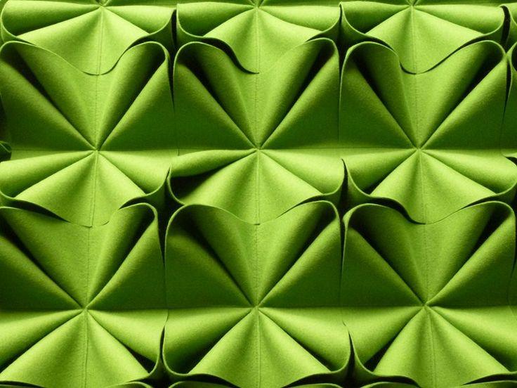 wool felt decorative acoustical panels DANI    ANNE KYYRÖ QUINN    fabric manipulation