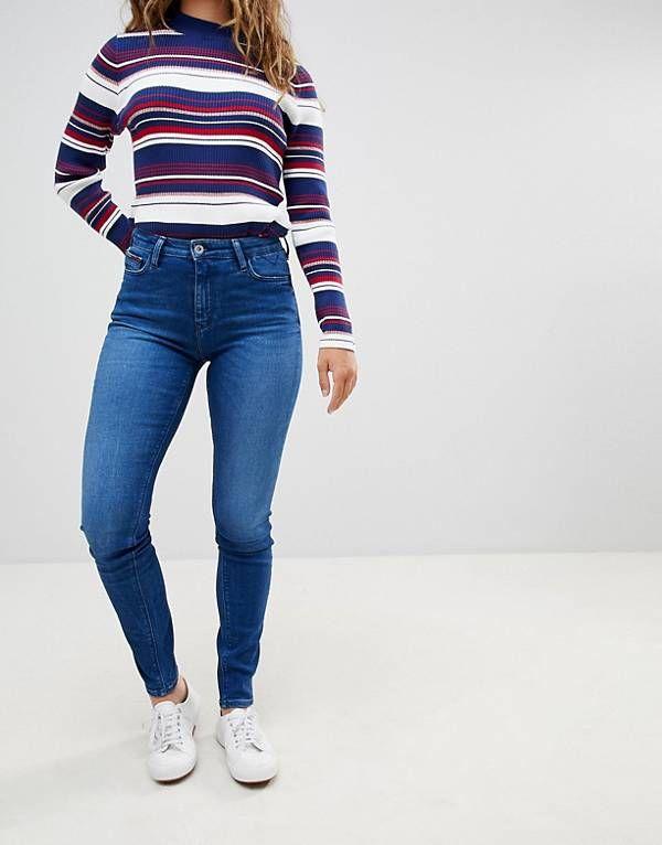 63d34a1c Tommy Hilfiger Denim Santana High Rise Skinny Jeans | puma ...