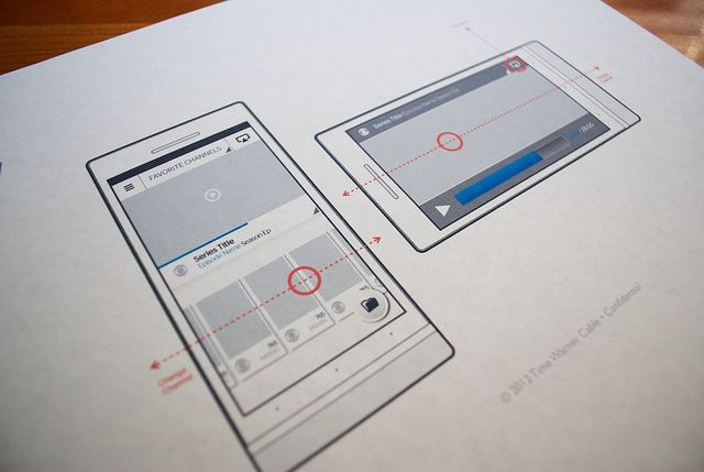 Time Warner Cable - Favorite Channels - Mobile Wireframe with Swipe Gestures by jamesstark via Flickr.