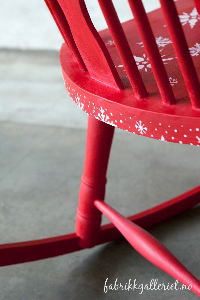 My favorite Christmas chair. Painted in Vitro chalk paints Valentine, with clear wax.