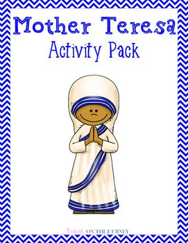 March is Women's History Month. Celebrate the life of Mother Teresa with this fun activity pack geared for students in grades K-3. Inside this packet, you'll find the following activities: * a K-W-L chart* biography page with primary lines* notebooking page with standard lines* characteristics page* copywork - print and cursive* crossword puzzle* draw & write about helping the needy* Venn diagram* word search * coloring pages* and more