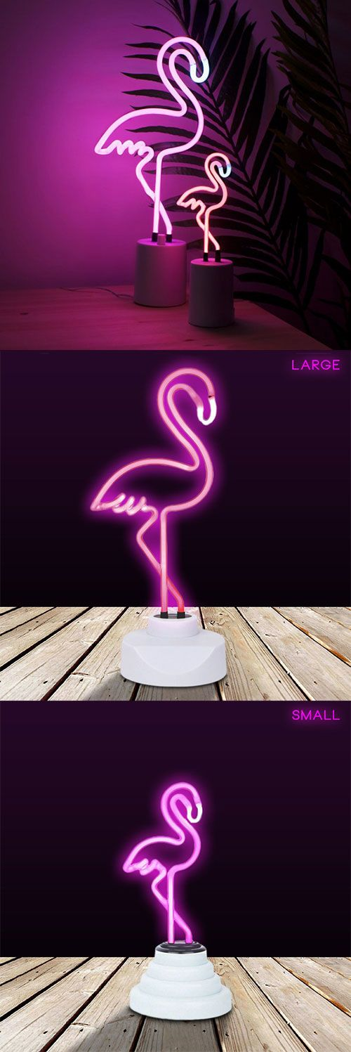 Talk about electric pop! These neon flamingo lamps from Sunnylife Australia are hot...