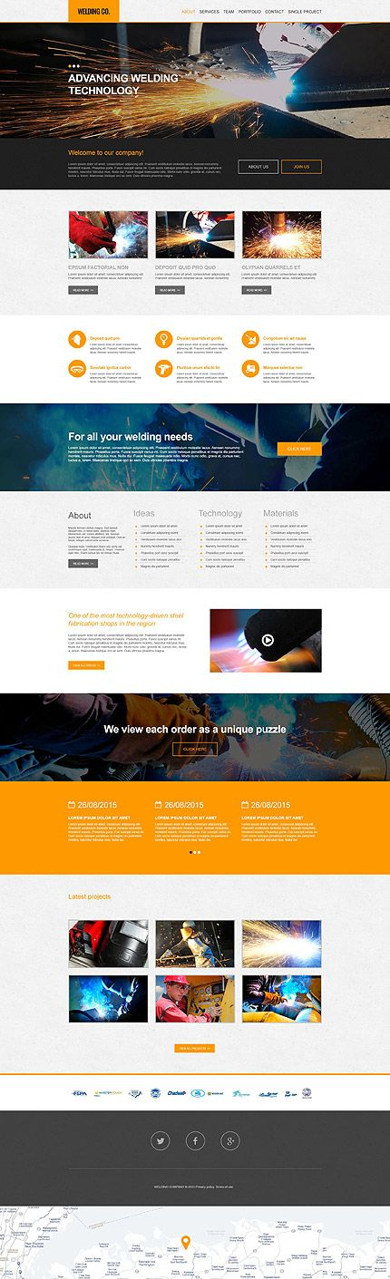 Professional Welding Company #Muse #template. #themes #business #webtemplates