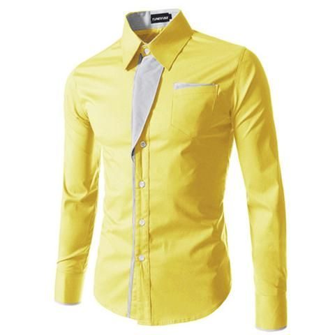 2017 New Fashion Brand Camisa Masculina Long Sleeve Shirt Men Korean Slim Design Formal Casual Male Dress Shirt Size M-4XL 8012 #BeenShop #Shirts #Longsleaves #Korean #Fashion