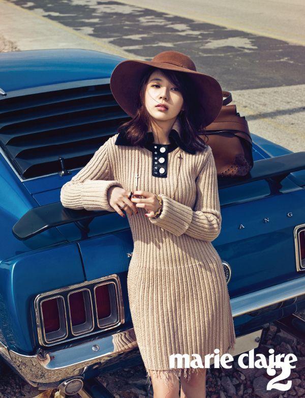 Korean Actress Baek Jin Hee Marie Claire Magazine October 2015 Photoshoot Fashion