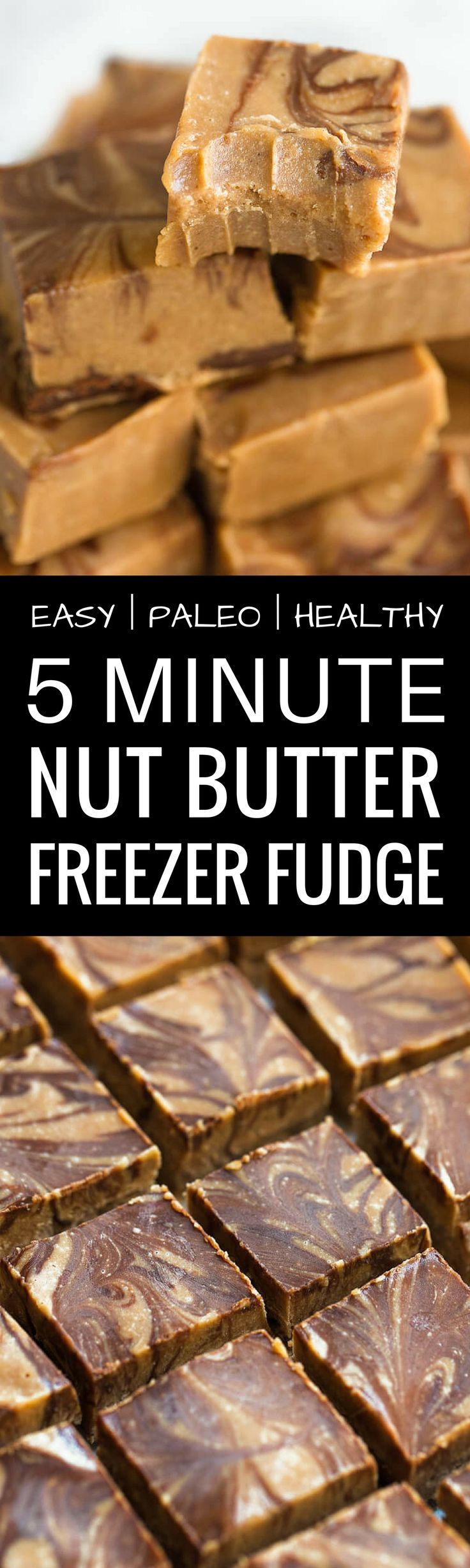 Healthy Nut Butter Freezer Fudge. This quick and easy paleo fudge recipe has all of the healthy fats, plenty of protein and is low carb! Healthy peanut butter fudge recipe. Low carb freezer fudge. Vegan freezer fudge. Paleo nut butter fudge. Cashew butter fudge. Vegan fudge recipe. Raw fudge. This recipe is completely gluten free, dairy free & refined sugar free! A delicious snack or dessert!