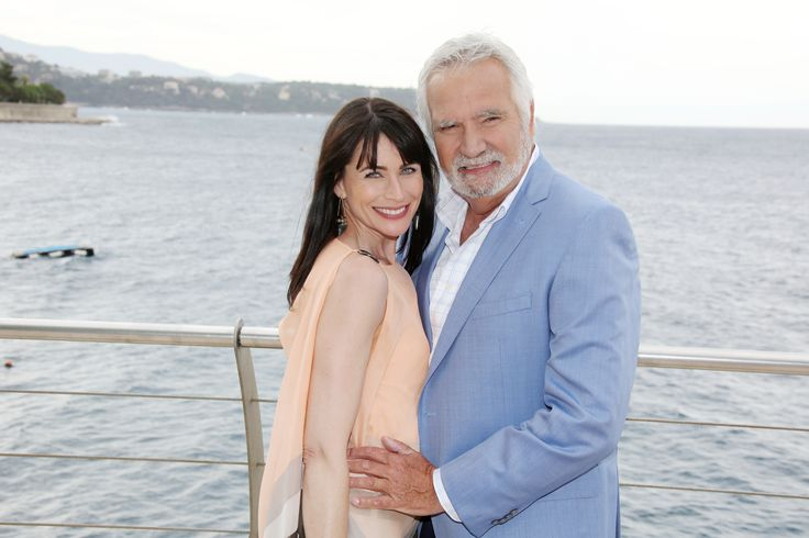 Rena Sofer ( Quinn Fuller). John McCook ( Eric Forrester). The Bold and the Beautiful. Glamour.