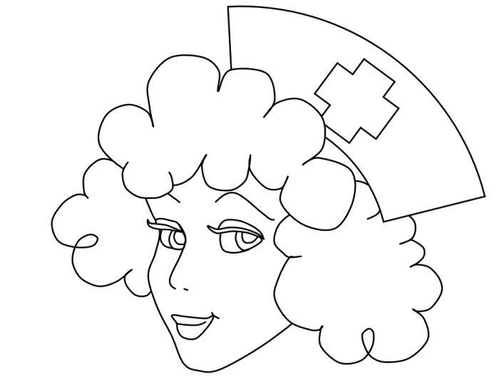Nurse cap coloring pages ~ Nurse Hat Page Coloring Pages