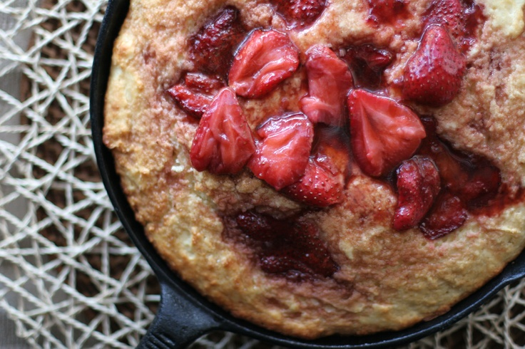 Roasted Strawberry Buttermilk Cake | annaCakes Recipes | Pinterest