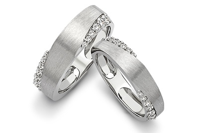 """True love stories never have endings""- Richard Bach  Make your love story special with the platinum love bands!"