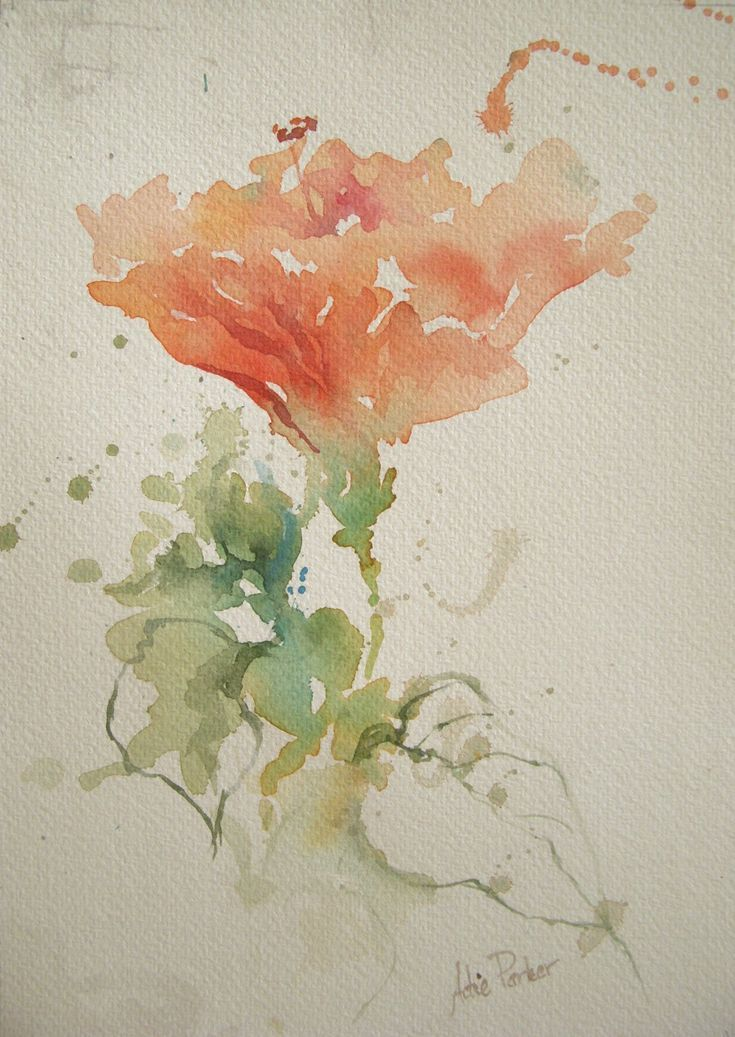 Watercolor Flower Looks Like The Signature Says Adie Parker