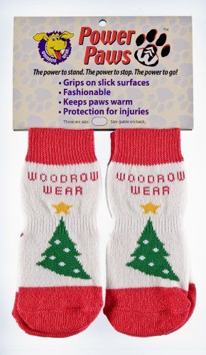 Power Paws, traction socks for dogs, Red, White with Green Christmas Tree, XXL - http://www.thepuppy.org/power-paws-traction-socks-for-dogs-red-white-with-green-christmas-tree-xxl/