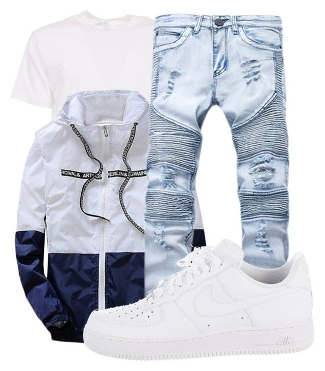 """Drippy Attire"" by kingtorree on Polyvore featuring Comme des Garçons SHIRT, NIKE, men's fashion and menswear"