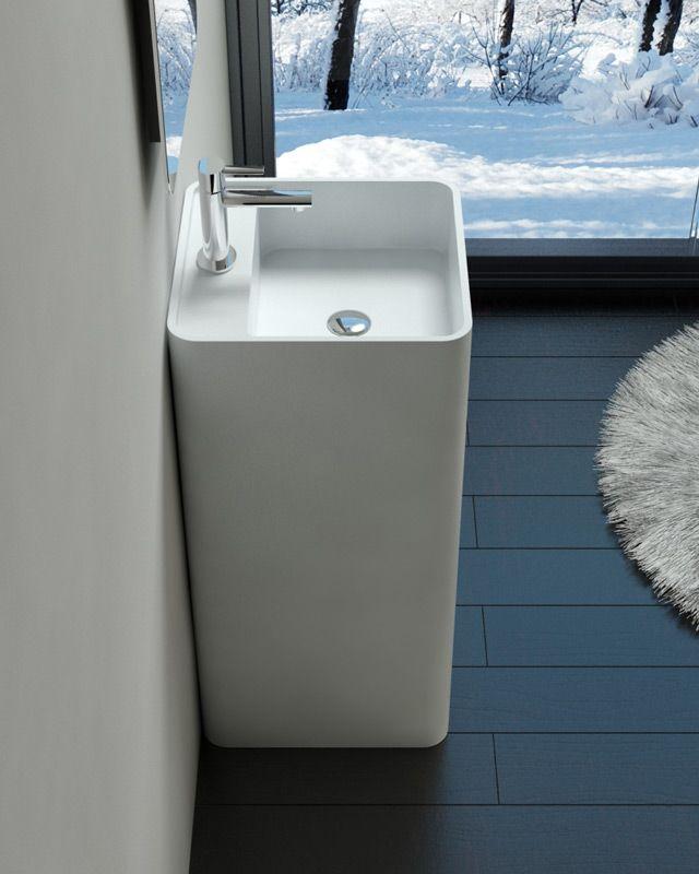 Badeloft gegoten stenen baden wastafels hangende wastafels opzetwastafels bathrooms - Stenen wastafel ...