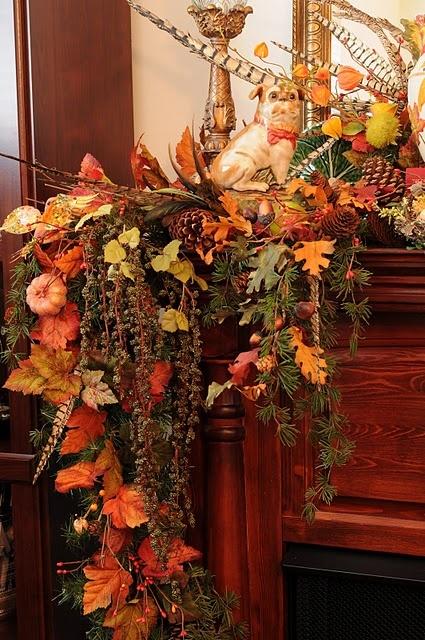 Fabulous fall mantel.