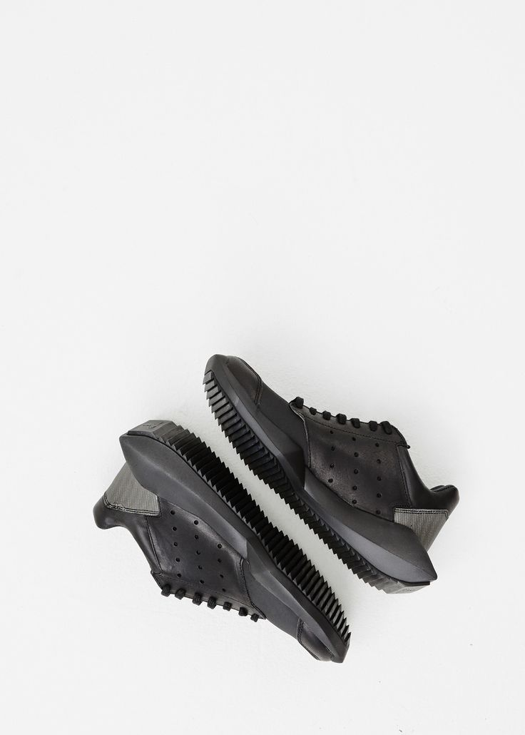 Rick Owens Rick Owens x Adidas Tech Runner Sneaker in Black