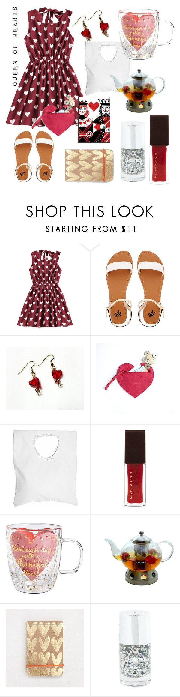"""""""Queen of hearts"""" by tinakriss ❤ liked on Polyvore featuring 2b bebe, Jennifer Haley, Kevyn Aucoin, Cypress Home and Ovente"""