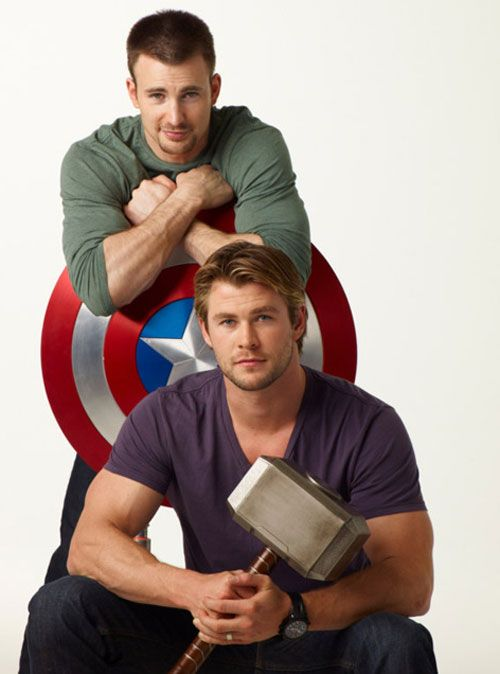 Chris Evans & Chris Hemsworth
