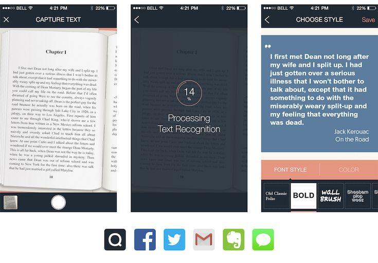 Quotle, kitap alıntıları için metin tanıyan görsel ağ uygulaması