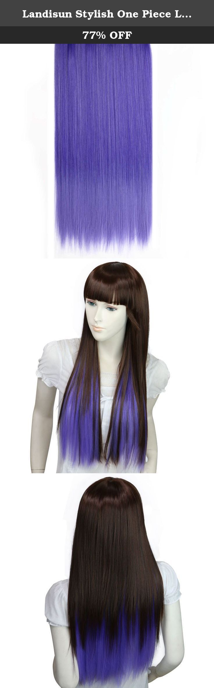 Landisun Stylish One Piece Long Curly/Straight Hair Extensions (5 Clip On) SN395 Straight Dark Purple Lavender. Landisun provides the best products on Amazon. We sell our products in 28 countries through Amazon Landisun wig features a high-quality which gives you a look of naturalness and reality. Landisun wig is Easy to wash and care just using a little mild shampoo in cold water. Landisun wig is made from 100% high quality material. You will be amazed by the quality. Wearing it, it can...