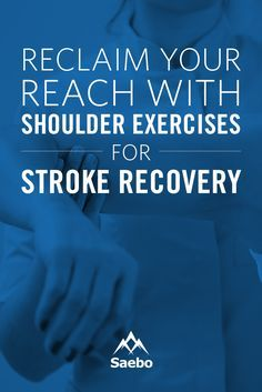 Recovering your arm and shoulder movement after a stroke can be challenging. If you can't easily grasp and release objects, move your arms forward, or use your arms to support your weight or you're just starting your recovery with a Saebo solution, it's important to incorporate helpful shoulder exercises for stroke recovery into your daily routine at home.