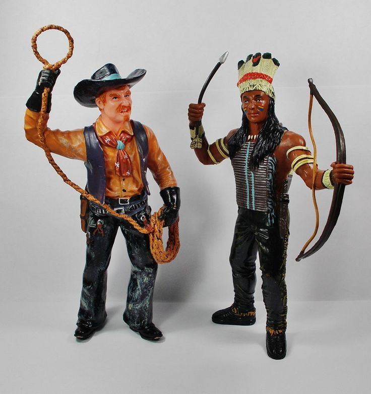 Cowboy & Indian - Action Toy Figures - Display Figures