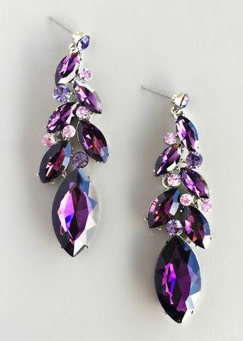 Purple Midnightsky Statement Earrings