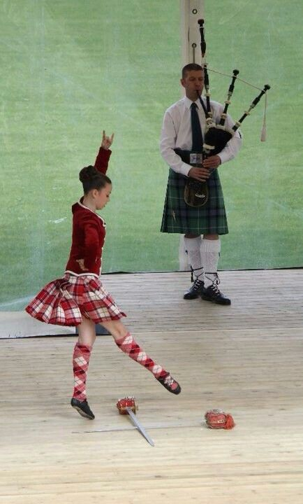 Scottish sword dancing. My nanna would still do these dances in her kitchen while I was growing up xo