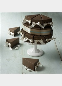 Great cake box to take a slice home in.