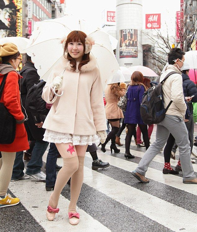 Running out of adspace on billboards, TV's and on radio? Why not put them on legs of women??? A Japanese woman wears an add on her leg.  All they have to do is wear it for 8 hours a day and they get a cut of the advertising fee.