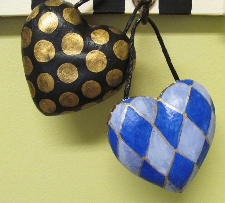 Images Of A Painted Paper Mache Heart From Hobby Craft