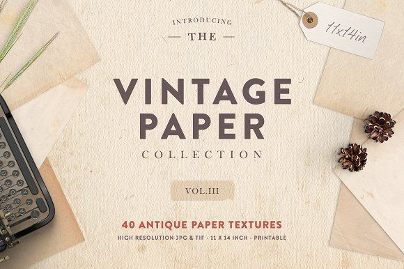 The Vintage Paper Collection Vol.03 by Greta Ivy on @creativemarket