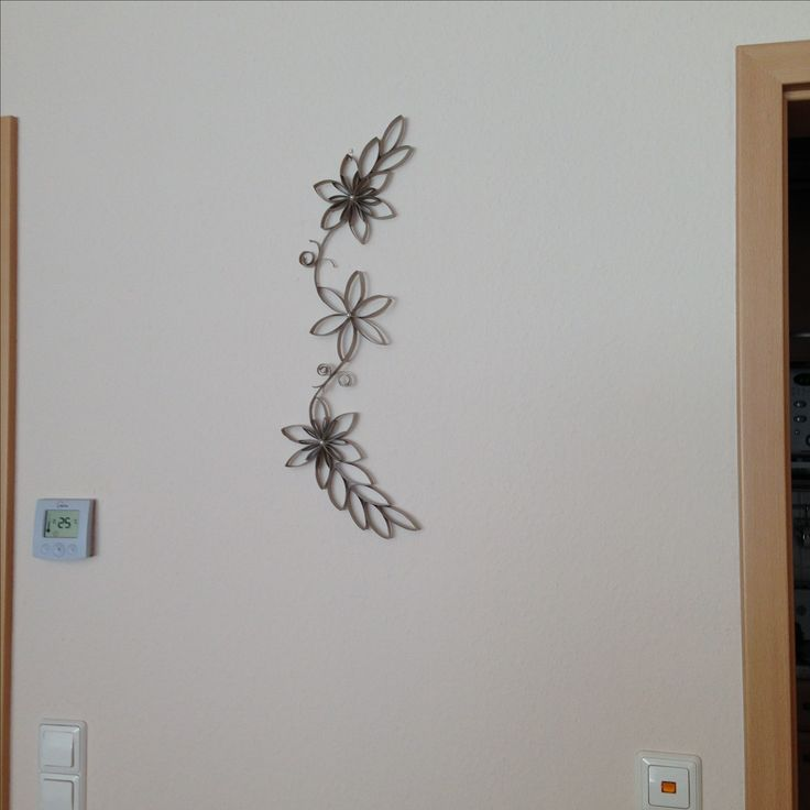 Flores hechas con rollos de papel higiénico