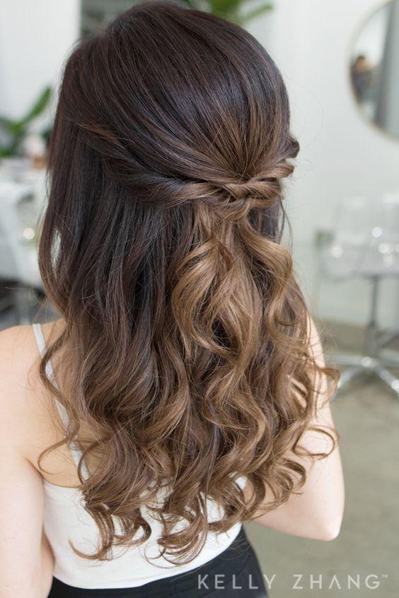 Einfache DIY Prom Frisuren für mittleres Haar - Hair&Beauty - #diy #einfache