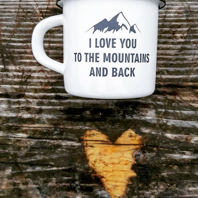 Available in MY Etsy Shop ➡️ www.etsy.com/shop/MugYourself  #mugyourself #mug #iloveyou #iloveyoutothemountainsandback #mountains #mountain #travel #adventure #enamelmug #enamel #etsyshop #gift #christmasgift #love #camping #camp #camper #eco #giftforher #birthday #custom #cup #coffee #coffeemug #teamug #tea #etsybestsellers #thanksgiving #hiking #climbing
