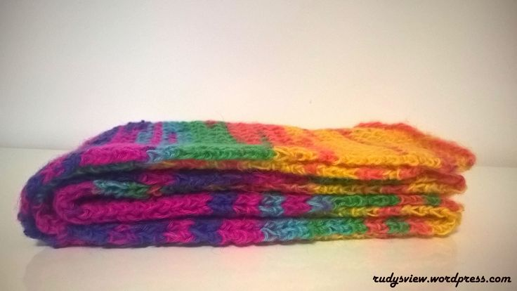 Multicoloured wool scarf