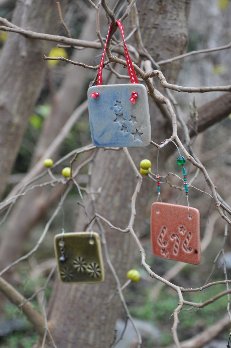 Merry Christmas!  Decorate your home with handmade ceramic ornaments