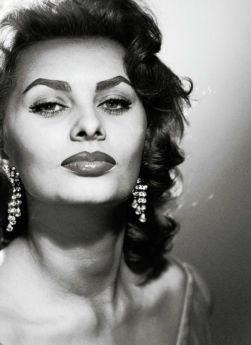"""""""Being beautiful can never hurt, but you have to have more. You have to sparkle, you have to be fun, you have to make your brain work if you have one."""" - Sophia Loren"""