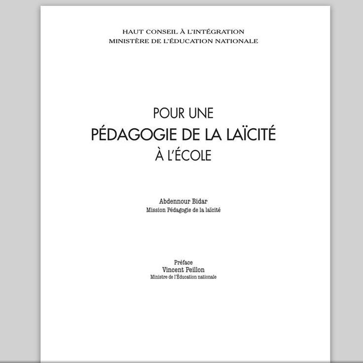 Pour une pédagogie de la laïcité - Abdennour Bidar | Pearltrees