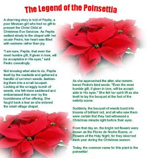 Story Of The Poinsettia Printable Christmas Feature The Legend Of The Poinsettia Felice Navidad Pinterest Poinsettia Christmas And Christmas