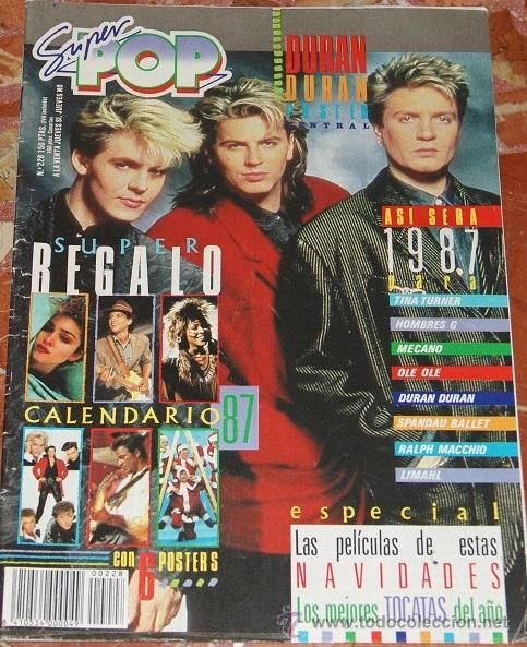REVISTA SUPER POP DURAN DURAN SPANDAU BALLET MECANO MADONNA DON JOHNSON HOMBRES G 80,S