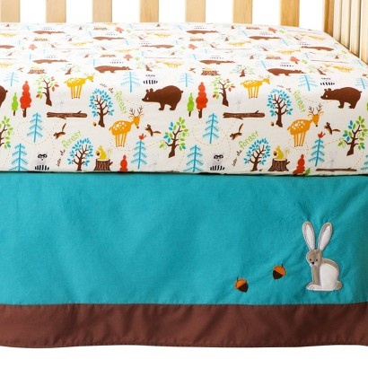 Target Zutanoblue Into The Forest 4pc Crib Bedding Set