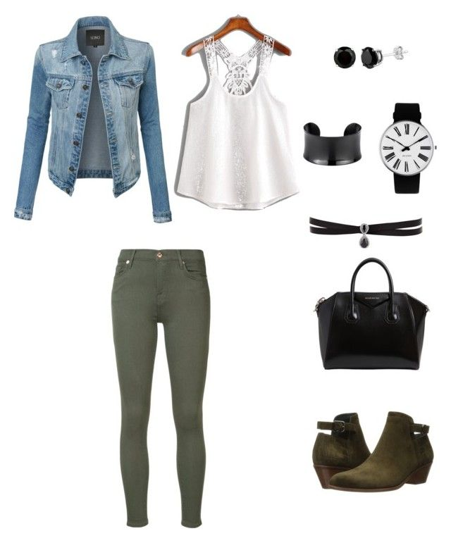 """""""Untitled #10"""" by kassiaraya on Polyvore featuring Givenchy, 7 For All Mankind, Via Spiga, LE3NO, Rosendahl and Fallon"""