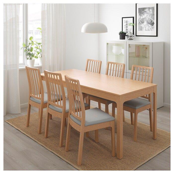 Ekedalen Table Extensible Chene 120 180x80 Cm Ikea Salle A Manger Merisier Table Extensible Table A Manger Avec Rallonge