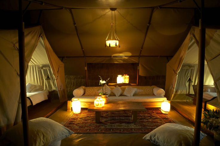 tent bedrooms - inside camping! I can get behind that
