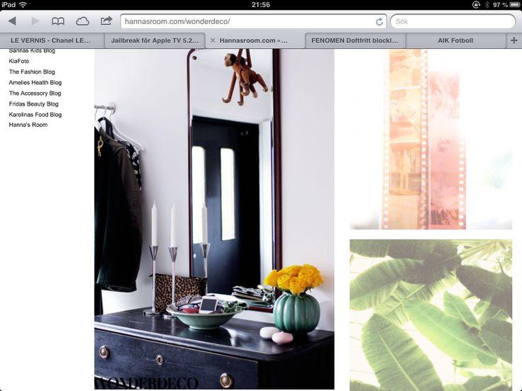 Retro spegel Hall Pinterest Spegel och Retro
