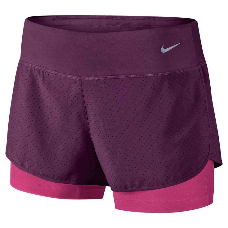 Short Running  Nike Printed 2 Rival Femme est fait avec le tissu Dri-FIT et côtés ventilés pour un confort durable et une meilleure ventilation