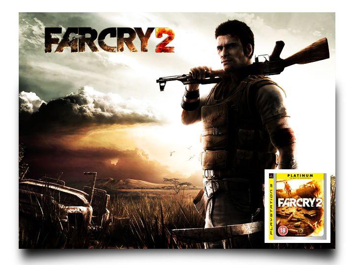 """Far Cry 2: Edición Platinum - Para PS3  Segunda entrega del prestigioso juego de acción en primera persona """"Far Cry"""", que nos llevará hasta el continente africano para protagonizar con un mercenario y sus compañeros, la difícil misión de acabar con un poderoso traficante de armas.  Desarrollador: Ubisoft Montreal Distribuidor: UbiSoft Género: Acción, Primera persona (FPS) (Moderno) Jugadores: 1, multijugador: 16 online Idioma: Español Lanzamiento: 23 de octubre de 2008 (Pegi: +16)"""