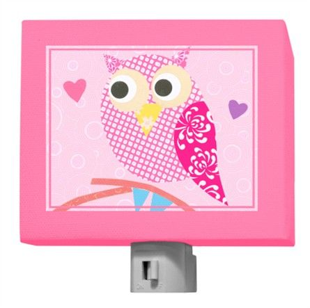 @Rosenberry Rooms is offering $20 OFF your purchase! Share the news and save!  Mod Owl on Pink Night Light #rosenberryrooms