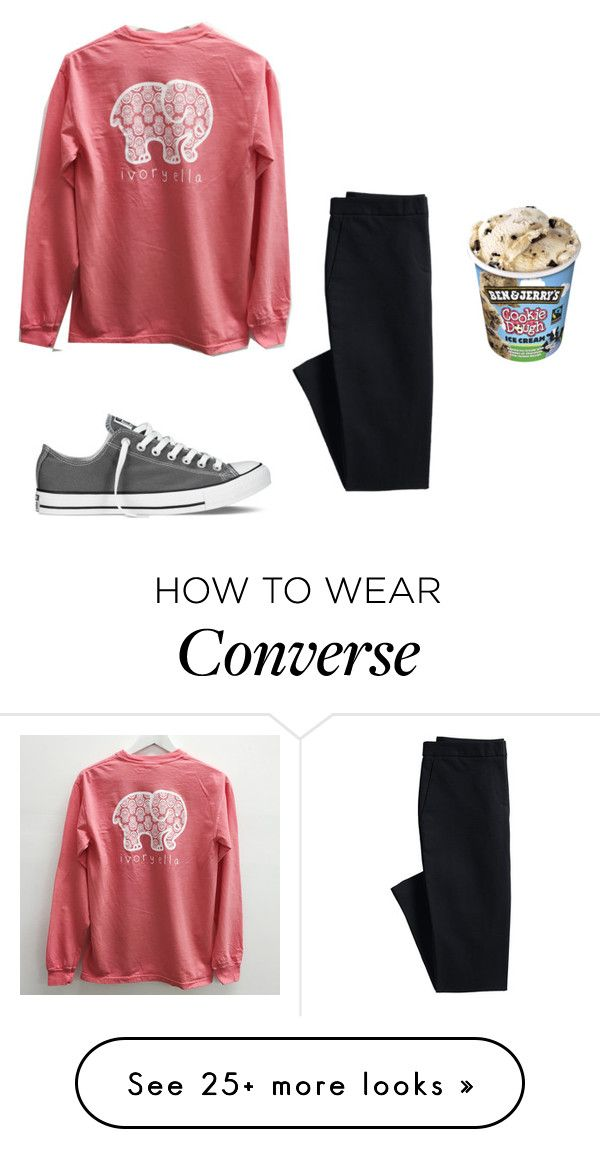 """Just got my brace fitted "" by elisabethturner on Polyvore featuring Canvas by Lands' End and Converse"